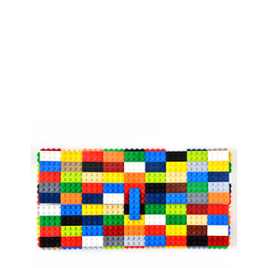 Multicolor oversize clutch