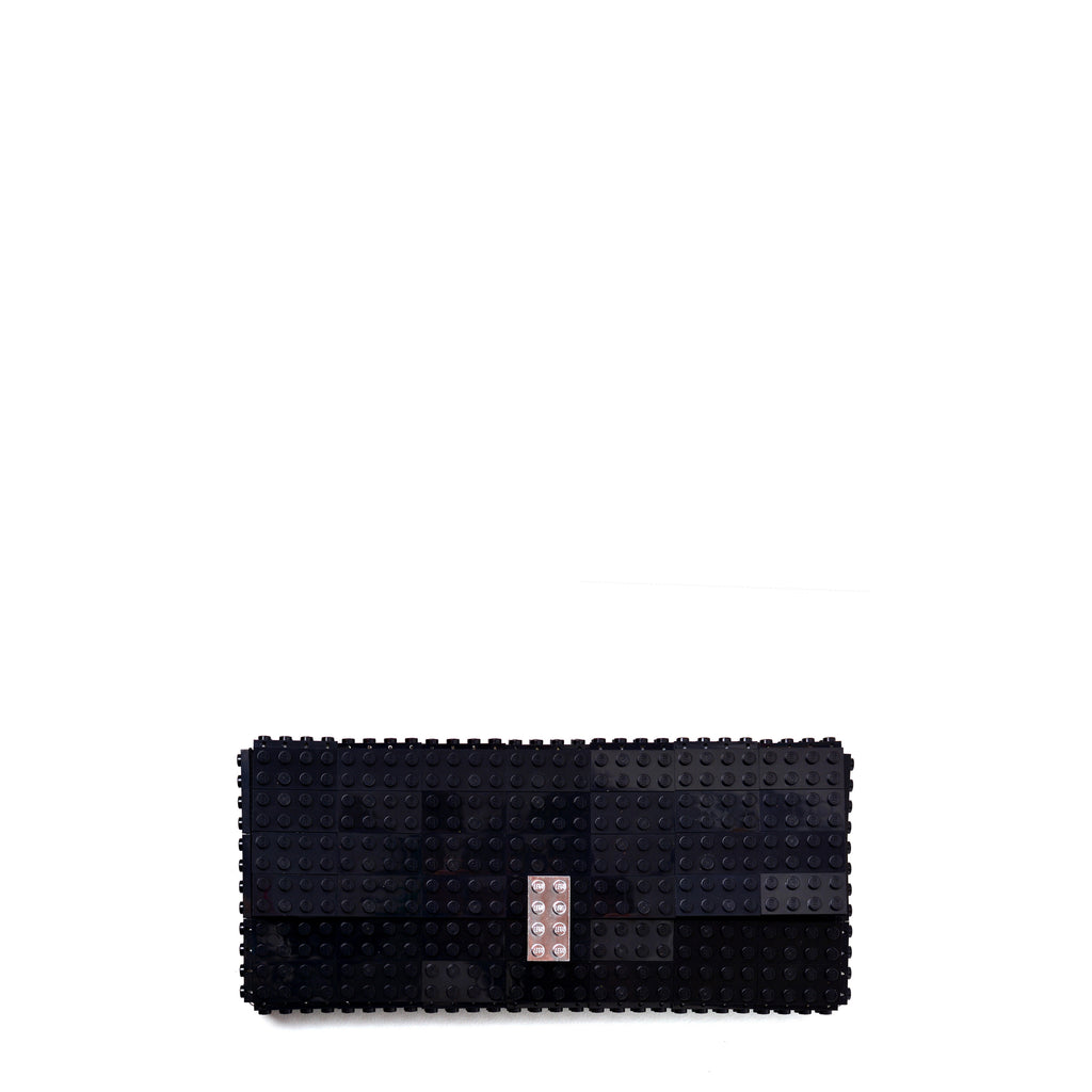 Black clutch with chrome lock