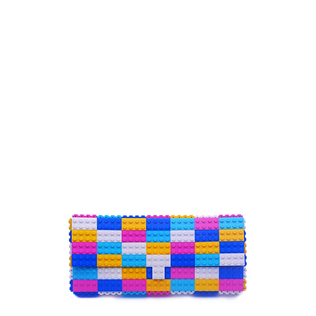 Multicolor candy bulk clutch