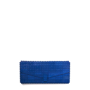 Dark blue envelope flap clutch