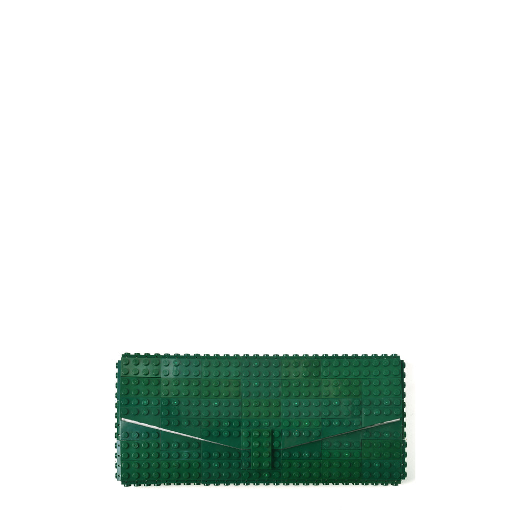 Dark green envelope flap clutch