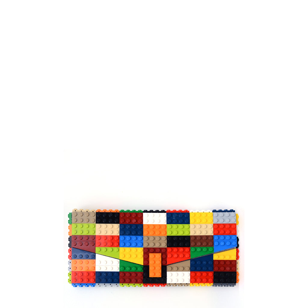 Multicolor envelope flap clutch