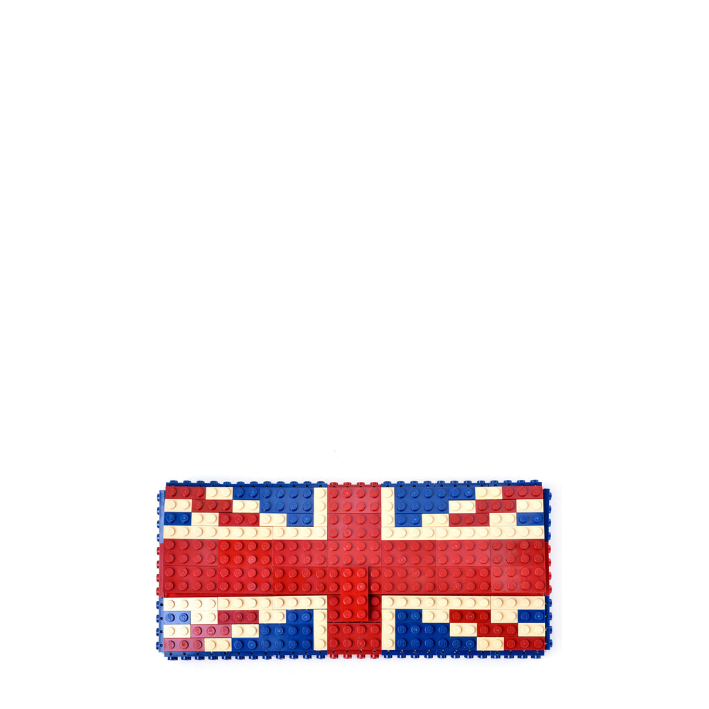 UK flag dark clutch