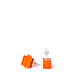 transparent orange brick studs