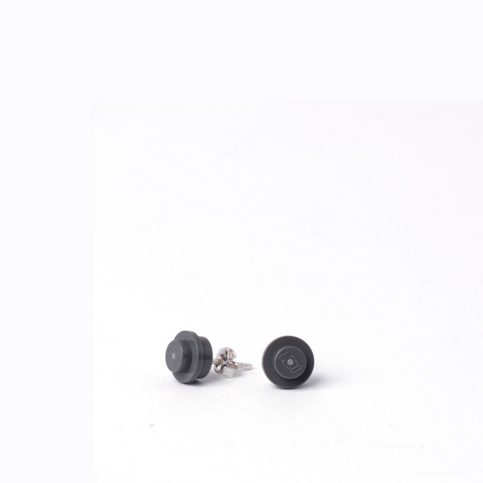 dark grey small round studs
