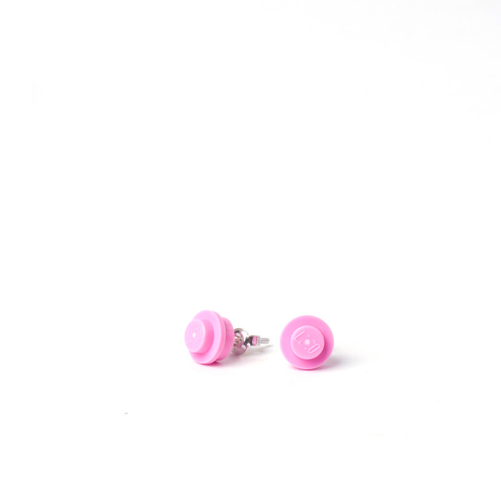 light pink small round studs