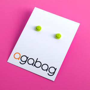 lime small round studs