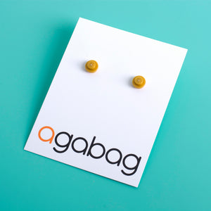 pearl gold small round studs