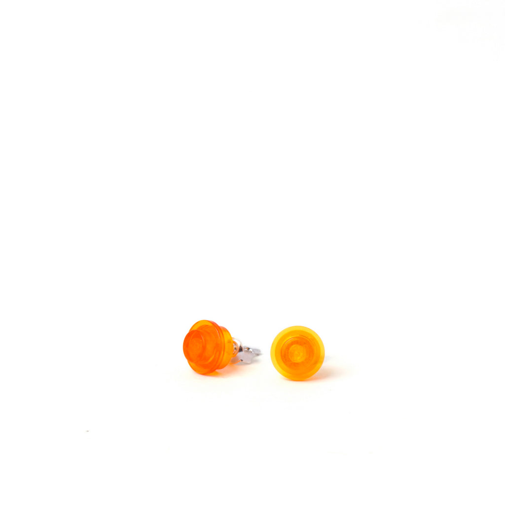 transparent orange small round studs