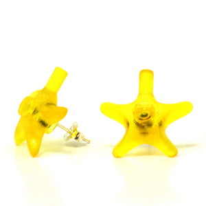 yellow starfish studs