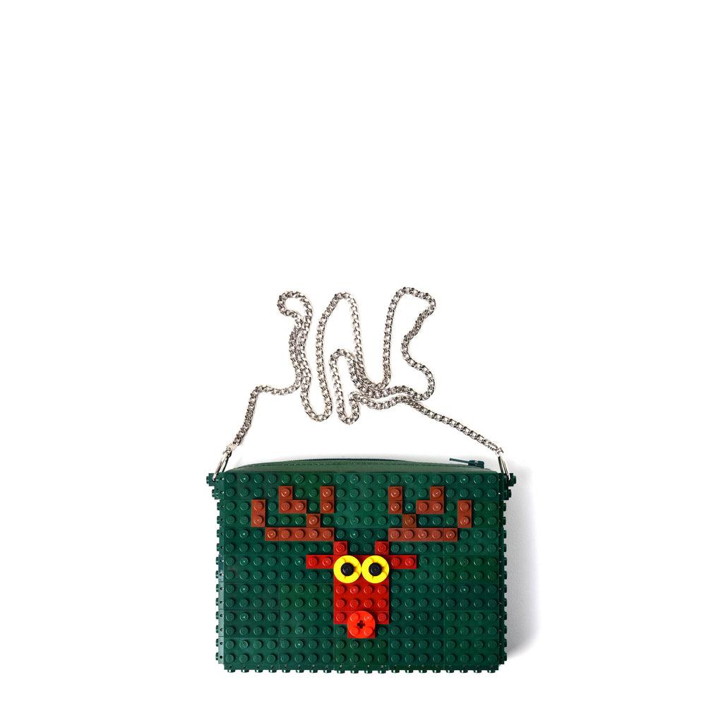 Dark green Deer zipbag