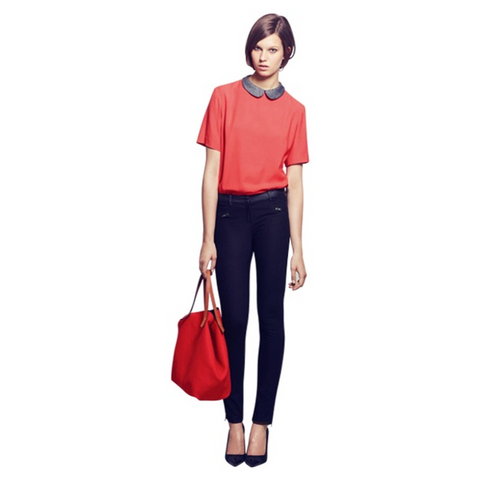b058198085f Sold Out Maje Jouette Top. Maje Jouette Peter Pan Collar Top - Size 2 ...