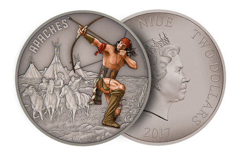 1 oz Silver Coin Warriors of History- Apaches .999