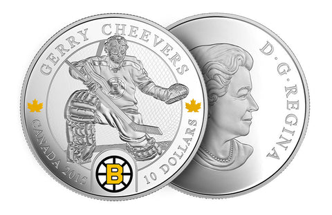 1/2 oz Silver Coin NHL® Goalies: Gerry Cheevers .9999