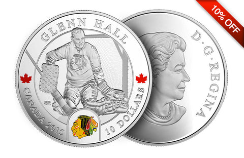 1/2 oz Silver Coin NHL® Goalies: Glenn Hall .9999