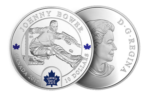 1/2 oz Silver Coin NHL® Goalies: Johnny Bower .9999