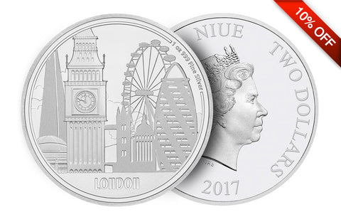 1 oz Silver Coin Great Cities- London .999