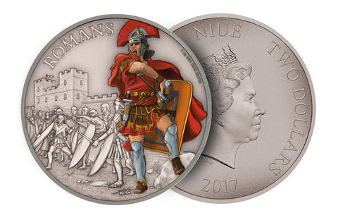 1 oz Silver Coin Warriors of History - Romans