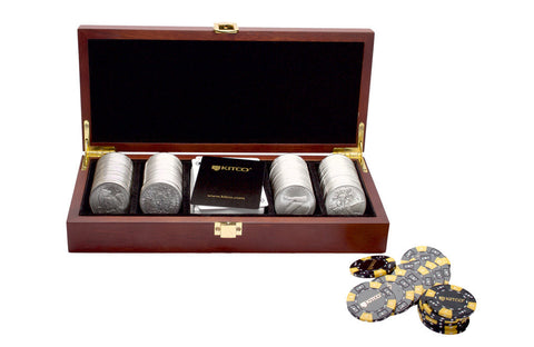 100 oz Silver Round Poker Set