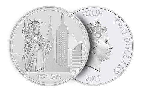 1 oz Silver Coin Great Cities-New York .999