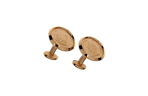 Gold Cufflinks - 1/10th oz Gold Krugerrand (various years)