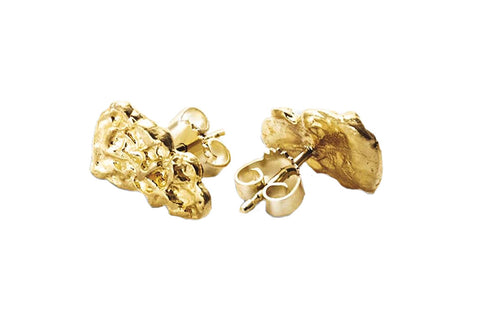 2.5 g Pure Gold Nugget Earrings