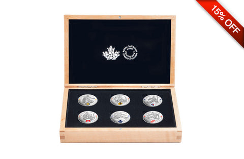 NHL® Silver Coin Set: Famous Hockey Goalies .9999