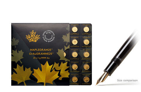 25 x 1g Gold MapleGram25™