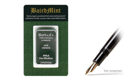 1 oz Rhodium Baird & Co. Bar .999