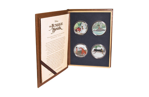 4 x 1oz Silver Coin Set-The Jungle Book 50th Anniversary