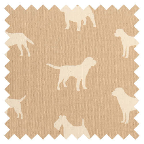 Biscuit Dog Print Fabric Sample