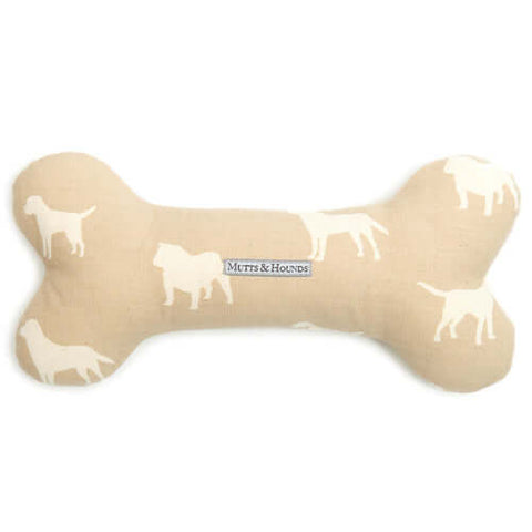 M&H Biscuit Squeaky Bone Dog Toy