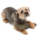 Forest Green Tweed Squeaky Bone Toy