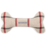 Nottingham Check Squeaky Bone Toy