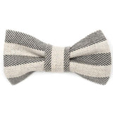Flint Stripe Brushed Cotton Dog Bow Tie