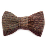 Grape Check Tweed Dog Bow Tie