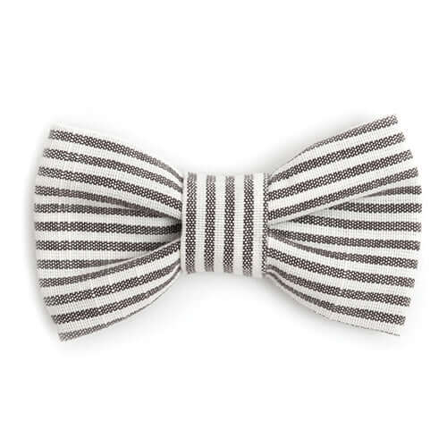 Charcoal Stripe Dog Bow Tie