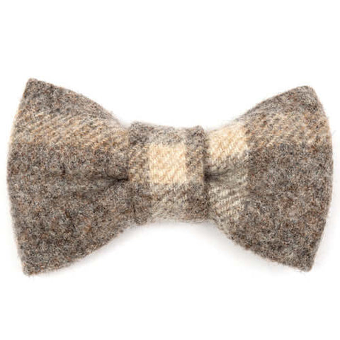 Slate Tweed Dog Bow Tie