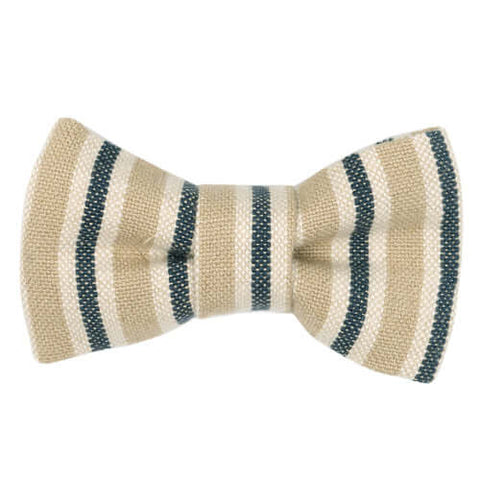 Tetbury Stripe Linen Dog Bow Tie