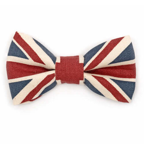 Union Jack Dog Bow Tie