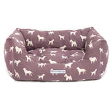 M&H Antiqued Plum Boxy Dog Bed