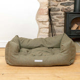 Forest Green Tweed Boxy Dog Bed