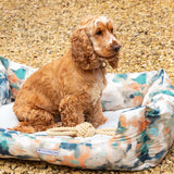 Watercolour & Mineral Stripe Boxy Dog Bed
