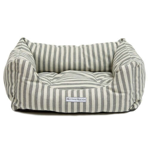 Flint Stripe Brushed Cotton Boxy Dog Bed
