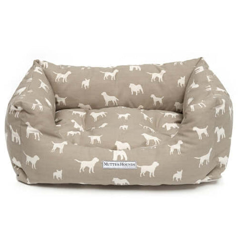 M&H French Grey Boxy Dog Bed