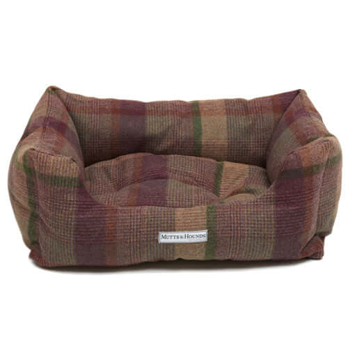 Grape Tweed Boxy Dog Bed