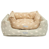M&H Powder Blue Boxy Dog Bed