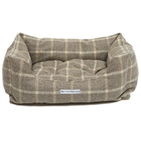 Slate Tweed Boxy Dog Bed