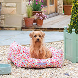 Posie Cotton & Chambray Stripe Boxy Dog Bed