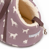M&H Antiqued Plum Dog Carrier